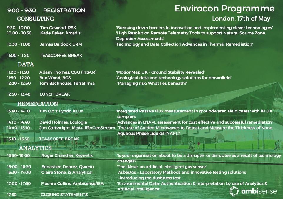 Envirocon Programme 2018