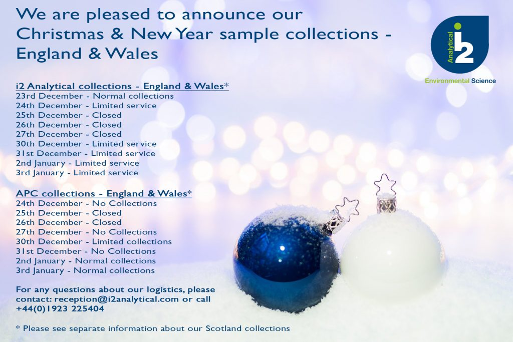 i2 Analytical Sample Collections Christmas 2019 - England & Wales