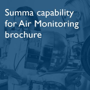 Summa capability for Air Monitoring brochure