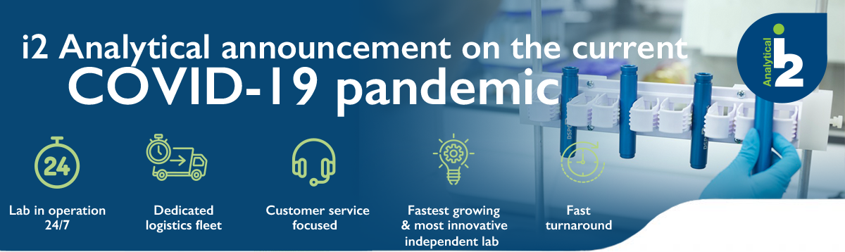 i2 Analytical announcement on the current COVID-19 pandemic